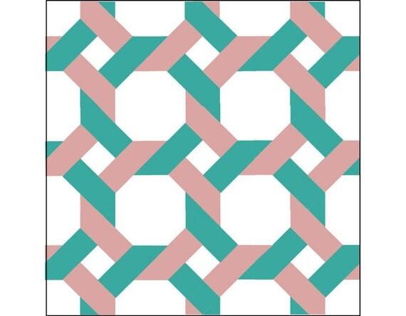 Quilt block pattern garden trellis 12 block pdf by for Garden trellis designs quilt patterns