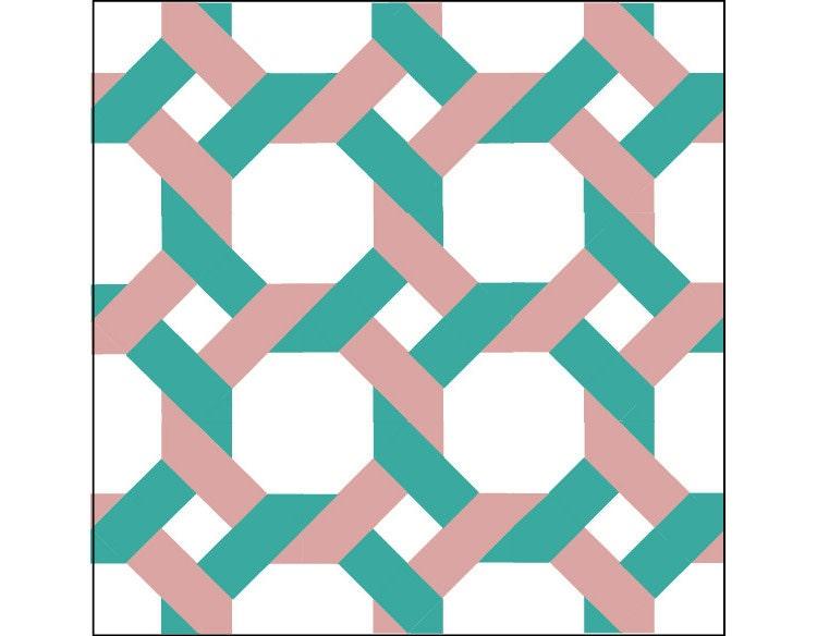 Quilt Block Pattern Garden Trellis 12 Block