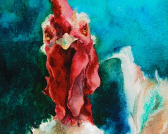 Chicken Note Card - Rooster - Note Card - Blank Inside