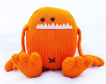 Harold the Hand Knit Stuffed Monster Toy