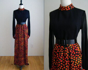 Vintage Futura Couture of NY Evening Maxi Dress