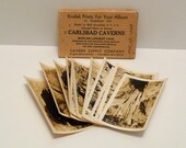 Carlsbad Caverns Kodak Photographs Prints in a Cardboard Box 1930s Antique Vintage Travel Souvenir New Mexico  FREE USA SHIPPING