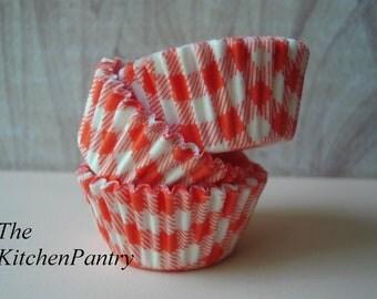 Orange Mini Cupcake Liners -  Mini Baking Cups -  Cake Pops  70 Mini liners