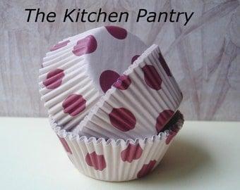 "Cupcake Liners -   Baking Cups "" Jumbo Dots  "" 50 Standard"