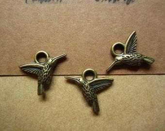 50pcs 20x17mm antique bronze bird charms pendant  C4092