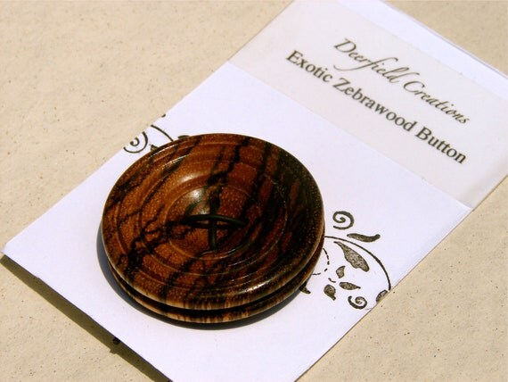 Large Zebrawood Button
