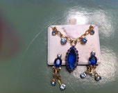 Gorgeous Blue necklace and earring set