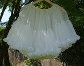 Upcycled White Vintage Slip