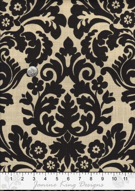 Damask Fabric By The Yard Waverly Essence Onyx By