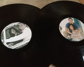 2 Personalized Vinyl Records & 2 Center Labels- Wedding Stickers/Labels/Guestbooks
