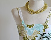 "1950's Print Camisole Strappy Vintage Top Spring - Summer Fashion // ""Flirty Fun Camisole"" from Lesley's Girls Vintage"