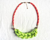 Chunky knotted cord necklace