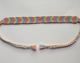 Pastel Rainbow Friendship Bracelet