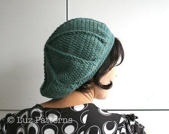 CROCHET PATTERN, Crochet hat pattern, vintage beret pattern crochet adult beret pattern (85) instant download