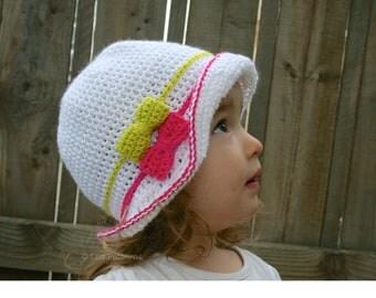 Crochet hat pattern summer floppy hat pattern crochet summer pattern baby hat pattern 5 sizes from newborn to adult (78) INSTANT DOWNLOAD