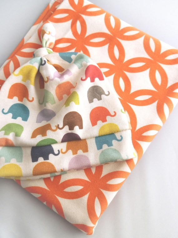 Modern Baby Blanket, Lattice Print, Choose Your Color, Organic Crib Blanket by Little Hip Squeaks