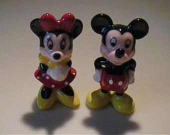 Vintage miniature bone china Mickey & Minnie Mouse - Disney