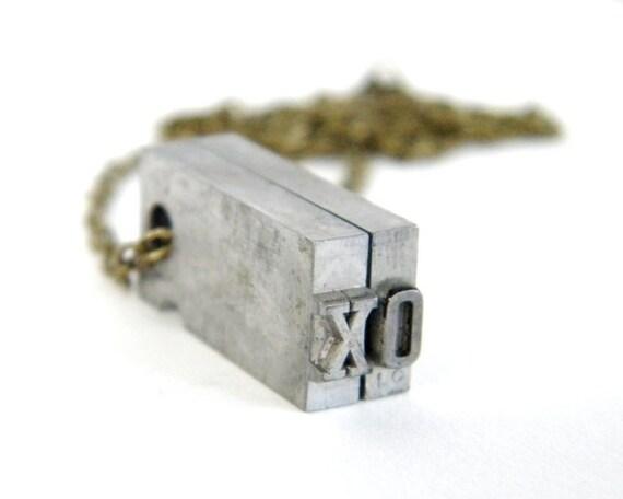 Letterpress XO Necklace
