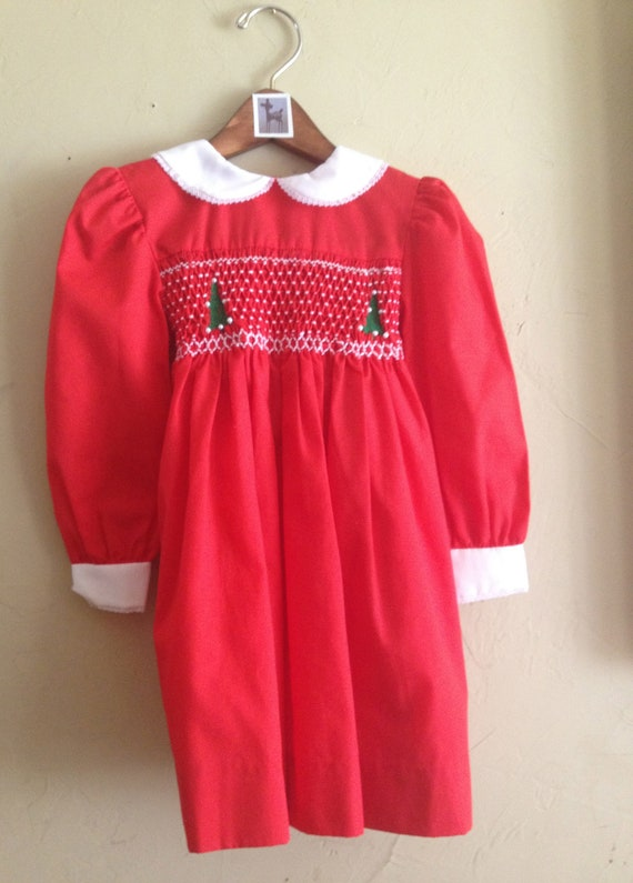 Smocked Christmas Dress 4t