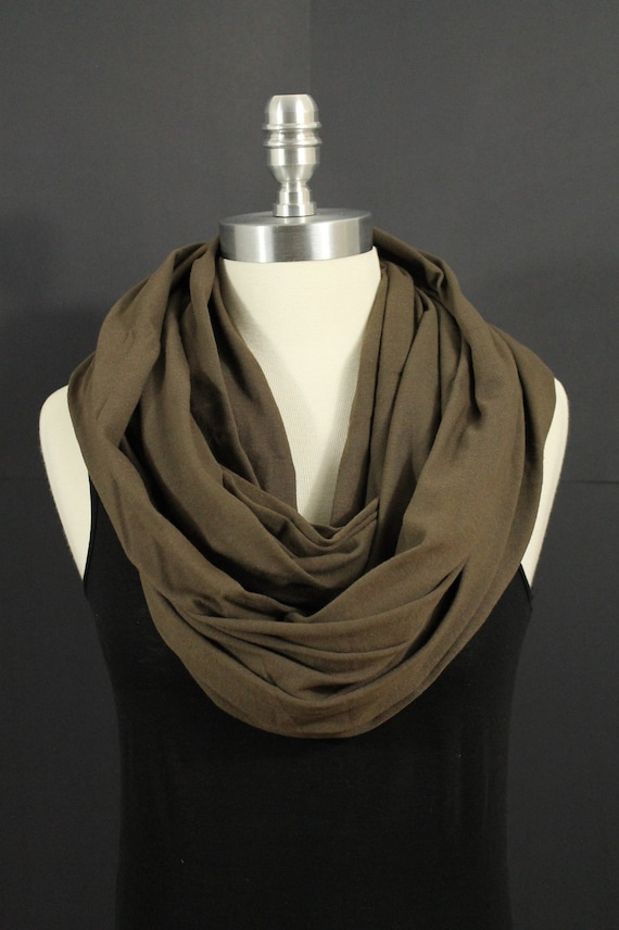 Chocolate Brown...Infinity Scarf...