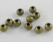 2000pcs Antique Bronze Round Spacer Beads, 3mm in diameter, FREE SHIPPING to USA