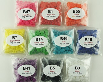 500 KAM Snaps Plastic/Resin for Diapers/Bibs/Cloth/Popper/Snap/KAM Snap (You Choose 10 Colors) Ships from USA
