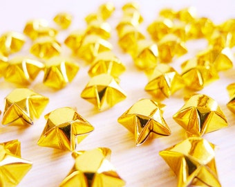 Sparkling Gold Origami Lucky Stars -Metallic Gold Wishing Stars/Gift Fillers/Party Supply/Embellishment