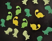 125 pieces dinosaur confetti mixed die cuts, birthday party table decoration, pinata filler, baby shower