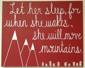 Let Her Sleep... in Scarlet - Custom Nursery Painting