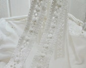 Vintage lace trim hand crocheted in Sweden