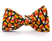Boys Bow Tie Photo Prop School Picture Halloween Candy Corn Freestyle - HeirloomsbyElisabeth