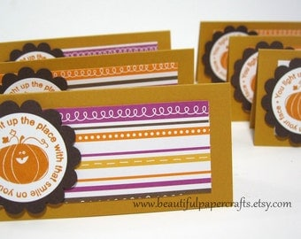 Happy Halloween Treat Bags and Toppers --- Halloween Party favors set of 6-- Ready to Ship