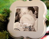 READY TO SHIP - 4x4 Enchanted unfinished picture frame - makes a great Christmas ornament