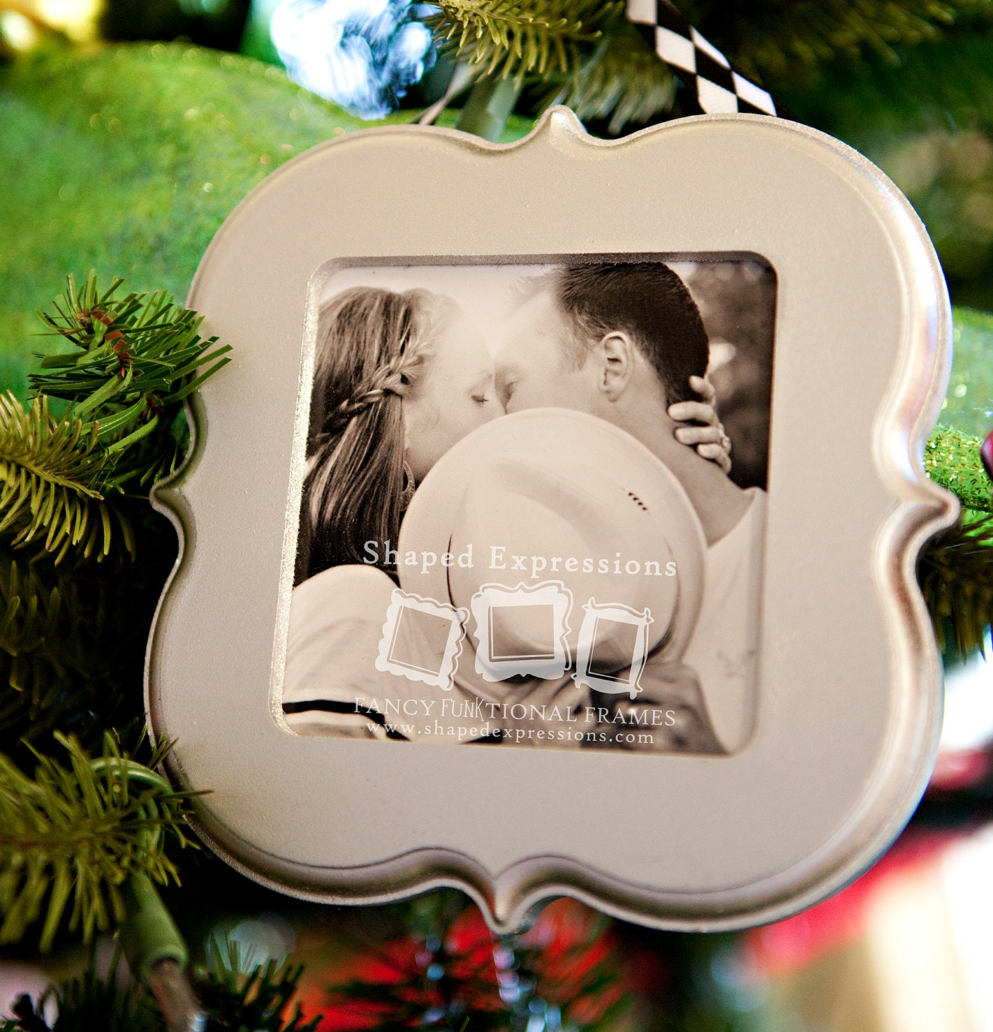 Christmas ornament frame - 4x4 Unfinished Picture Frame Choose Your Shape Christmas Ornaments