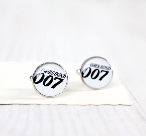 Mens Cufflinks - James Bond Cufflinks - James Bond 007 Jewelry - Free Shipping
