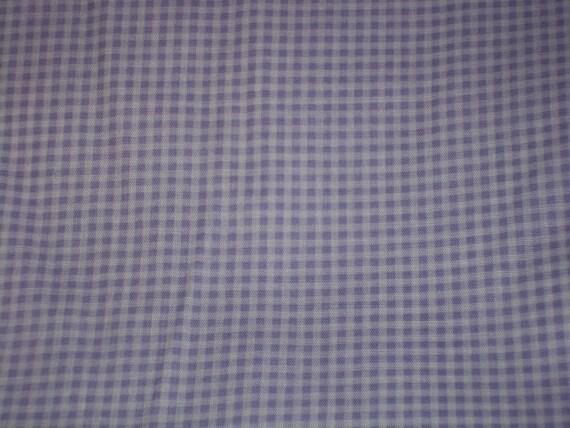 Destash fabric Purple checkered design