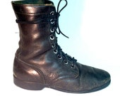 Vintage Bates Military Issue Combat Boots Dated Aug '71 - Mens US Size 8 Regular