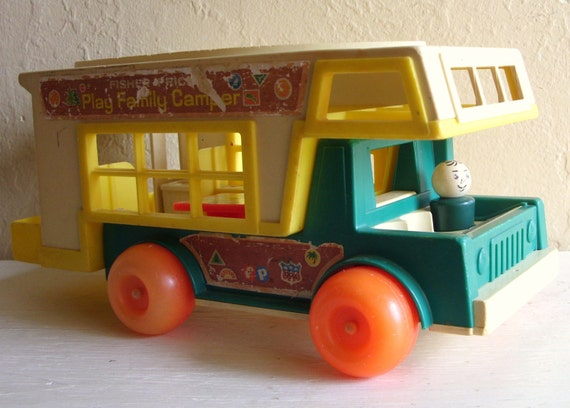 Fisher Price Little People Happy Camper and Truck Set 1972