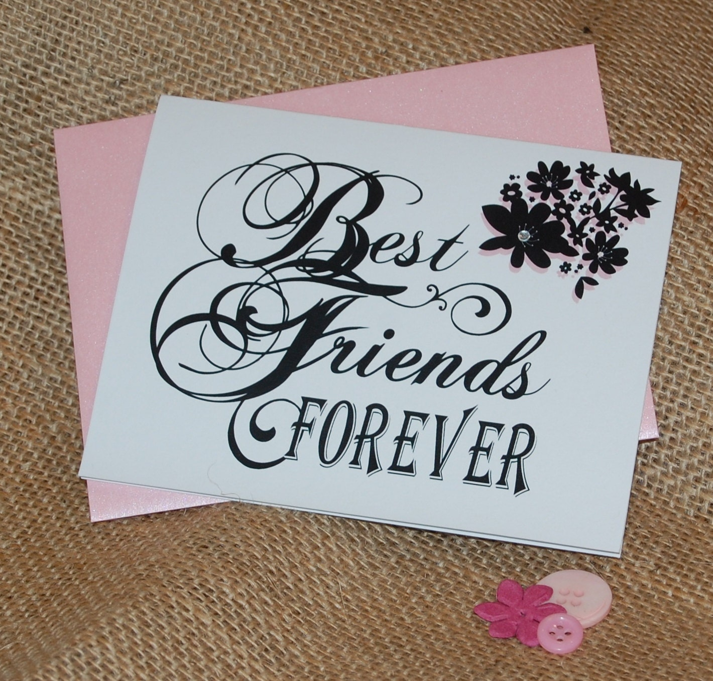 Greeting Card Best Friends Forever With By PaperDollPrinting
