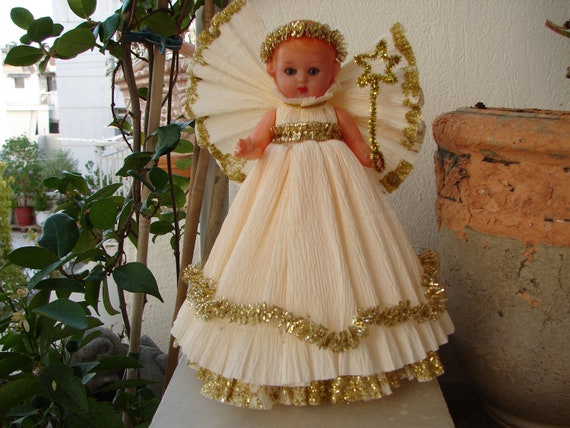 Vintage/ Antique Doll Christmas Angel/fairy Doll/tree Topper