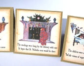 Mini Cards  - Twas the Night Before Christmas Images 2 inch Square  Set of 11