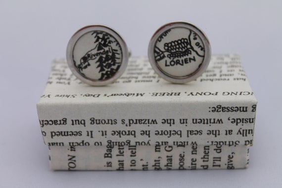 Lord of the Rings// Middle Earth Maps// Literature Cufflinks