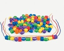 Jumbo Lacing Beads (100pc)