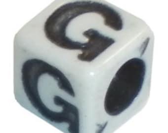 """Square Alphabet Letter """"G"""""""