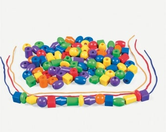 Jumbo Lacing Beads (100pc)
