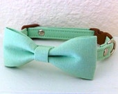 Reserved for Sara Mint Bow Tie Cat Collar