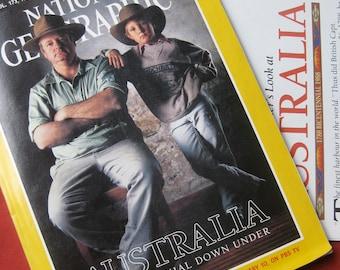 National Geographic Australian Bicentennial with supplement (Feb 1988)