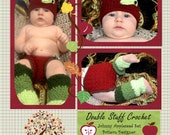 Johnny Appleseed Set  (Apple Hat, Diaper cover, and leg warmers)