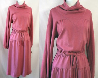 Vintage Wool Dress Pink Susan Howard Saks Fifth Avenue NOS