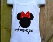 Minnie Mouse Applique Tank Shirt